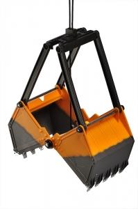 Crawler Crane/Bager s drapákom RC set 27MHz