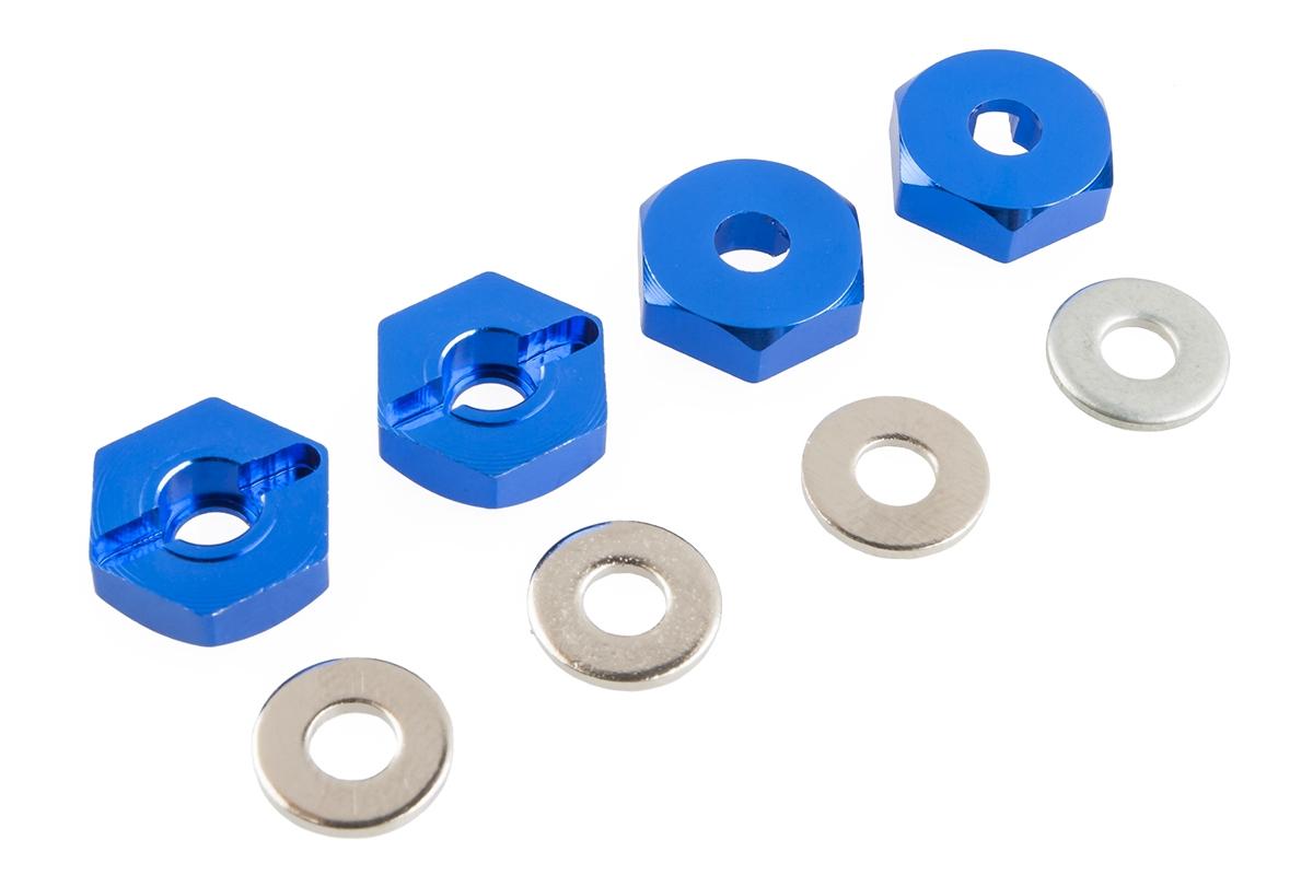 Náhľad produktu - Unašeče kol – ALU, (modré), 4ks. 102042