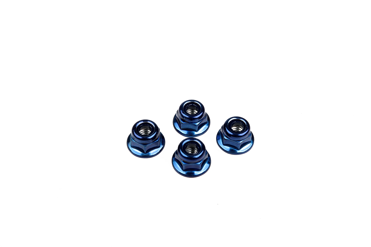 Náhľad produktu - Matice M4 – ALU 4ks - modré