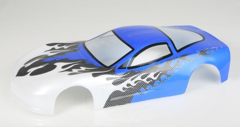 Náhľad produktu - Karoséria lakovaná Himoto 1:10 Corvette (modrá)