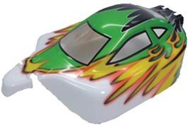 Náhľad produktu - Karoséria lakovaná Himoto Buggy 1:10 (zeleno-žlto-biela)