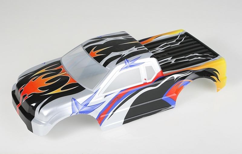 Náhľad produktu - Karoséria lakovaná Himoto Truck 1:10 (čierno-oranžová)