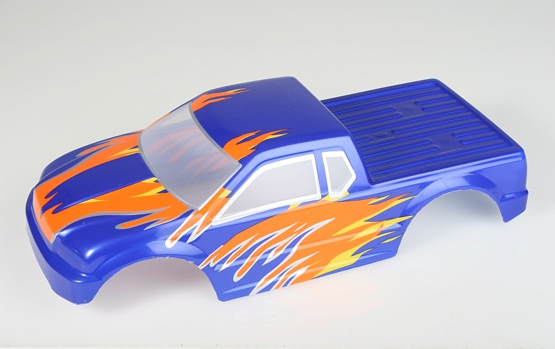 Náhľad produktu - Karosérie lakovaná Himoto Truck 1:10 (modro-červená)