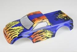 Náhľad produktu - Karosérie lakovaná Himoto Truck 1:10 (modro-oranžová)