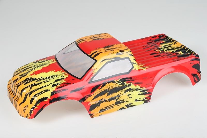 Náhľad produktu - Karoséria lakovaná Himoto Truck 1:10 (červeno-oranžová)