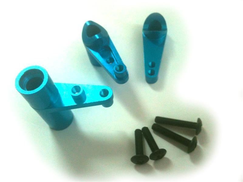 Náhľad produktu - Alu páky servo saver, modrý, 1sada