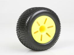 Gumy nalepené, 1:10 TRUGGY, žluté disky (2ks)