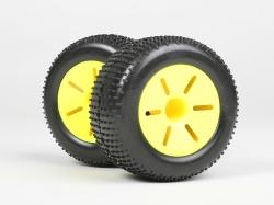 Wheel set, truggy (yellow, 2 pcs)