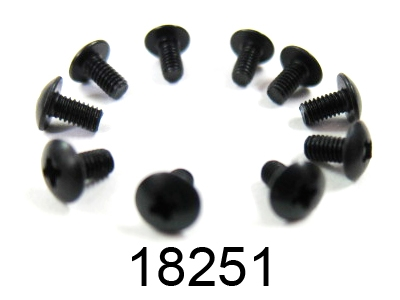 Náhľad produktu - 2,6x6mm šroub s kulatou hlavou, 10ks.