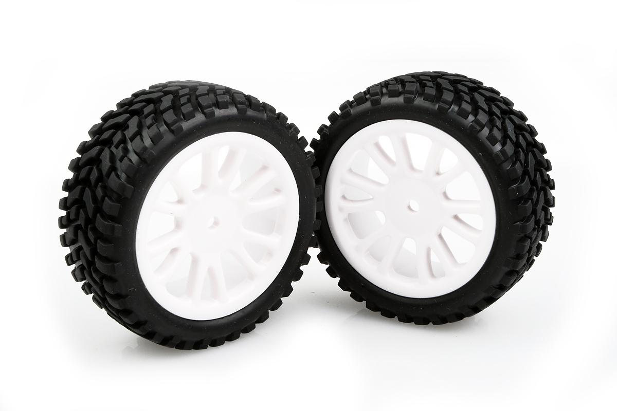Náhľad produktu - Nalepené gumy na bielych diskoch 2ks
