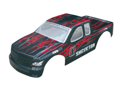 Náhľad produktu - Karoséria Monster Truck 1:5, čierno-červená