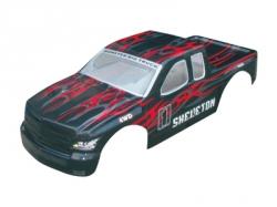 Karoséria Monster Truck 1:5, čierno-červená