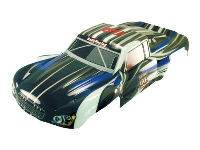 Náhľad produktu - 1:5 Karoséria Short Course truck čierno-modrá