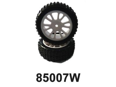 Náhľad produktu - Predné gumy nalepené na bielych diskoch (HM85005W + HM85006) 2 ks