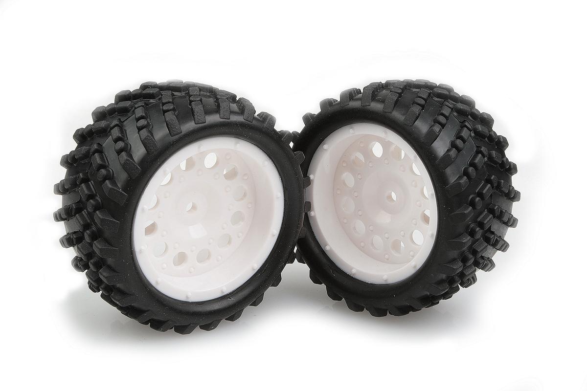 Náhľad produktu - Nalepené gumy na bielych diskoch 2 ks