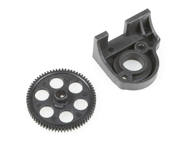 Náhľad produktu - Hlavní ozubené kolo 69Z + držák motoru - sada
