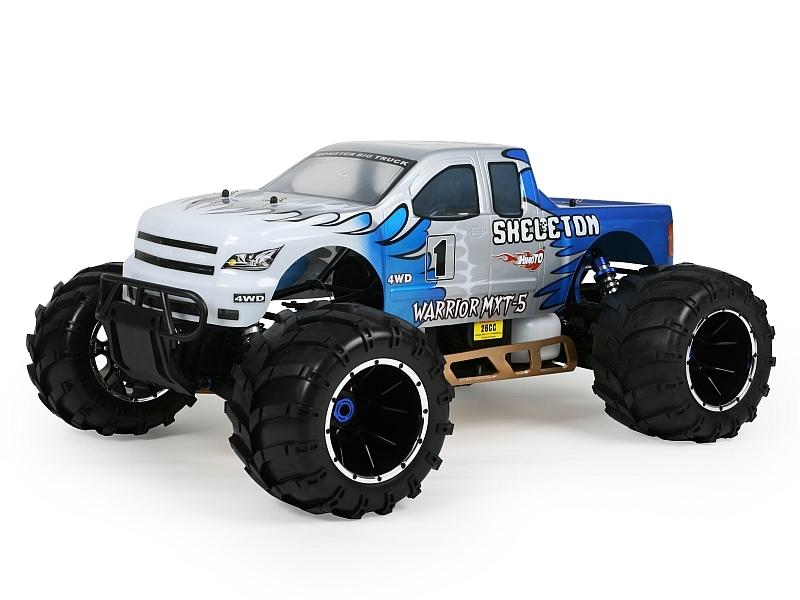 Náhľad produktu - 1:5 HIMOTO MEGAP Monster Truck 26ccm 2,4GHz (modrá)