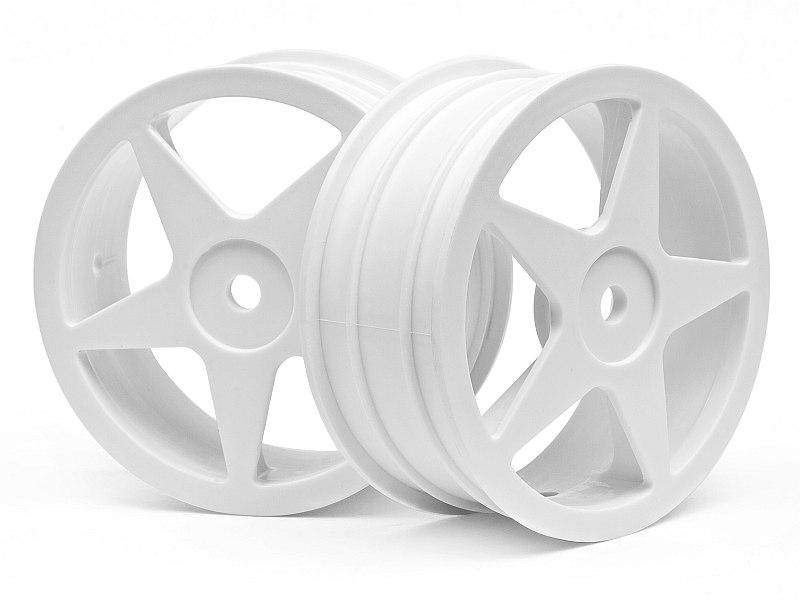 Náhľad produktu - Disk kola, 5 paprsků, bílý (60x26mm/2ks)