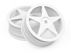 Disk kola, 5 paprsků, bílý (60x26mm/2ks)