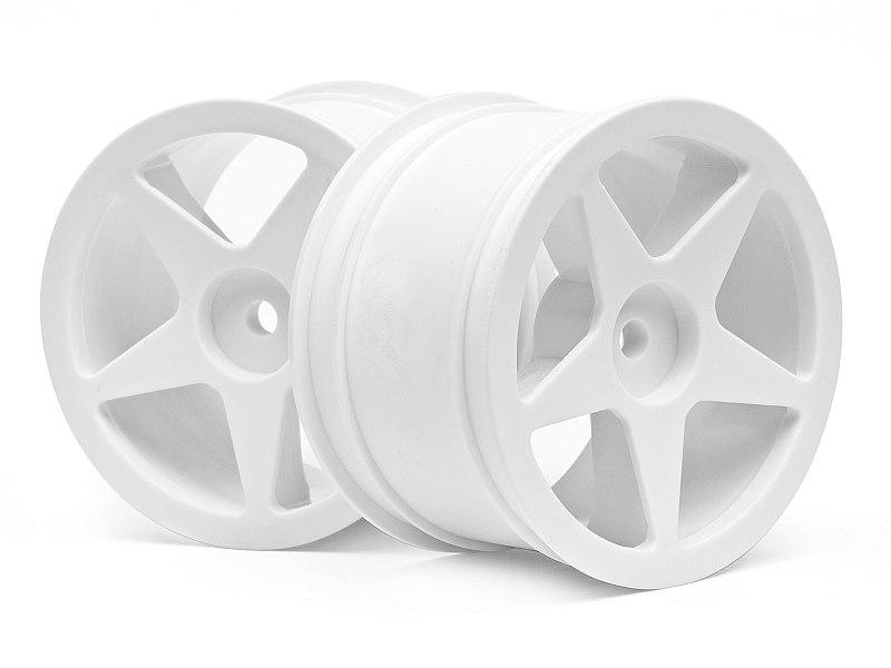 Náhľad produktu - Disk kola, 5 paprsků, bílý (60x38mm/2ks)