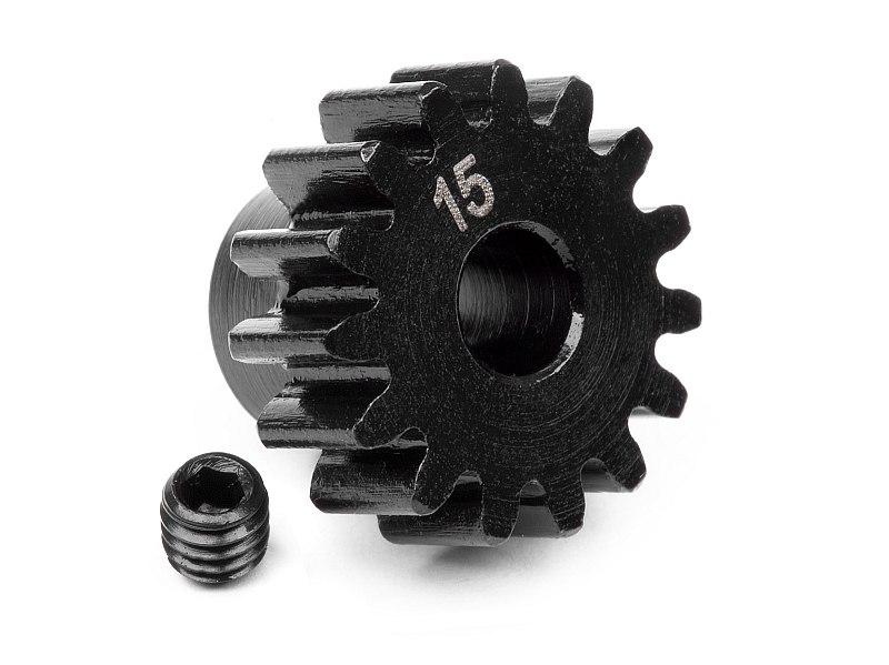 Náhľad produktu - Pastorok 15 zubov (modul 1M) pre 5mm hriadeľ