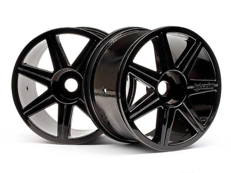 Náhľad produktu - 7 paprskové, černý chrom Trophy Truggy disky (2ks.)