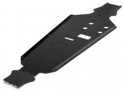 Alu tvrzené šasi 7075 3mm, černé (Trophy Buggy)