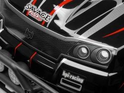 Karoserie lakovaná Savage Flux HP GT-2 (černo/šedo/červená)