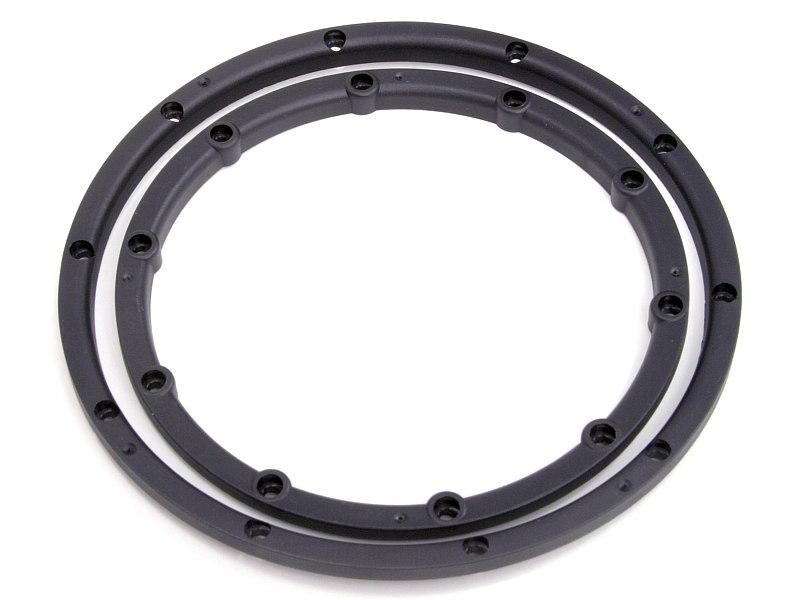 Náhľad produktu - Poistný krúžok kolesa, pre dva disky, čierny 2 ks