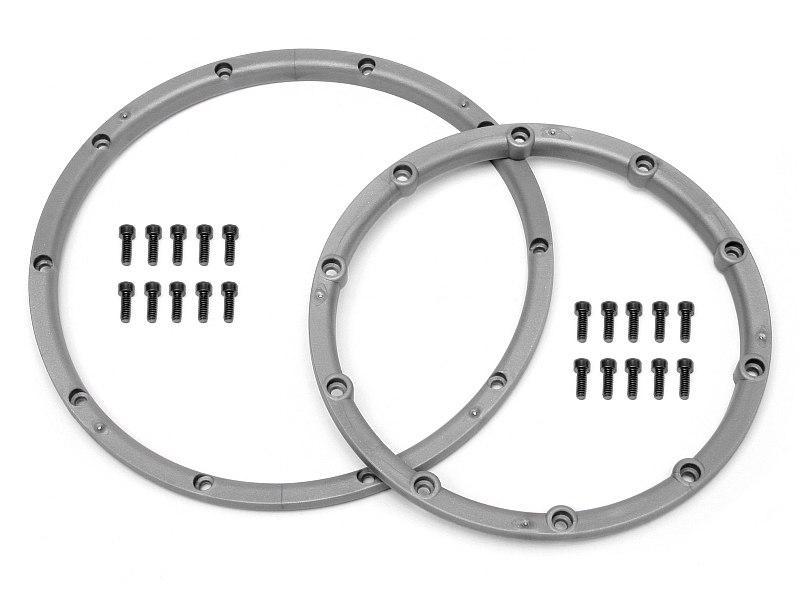 Náhled produktu - Pojistný kroužek kola, pro dva disky, stříbrný 2 ks