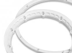 Poistný krúžok kolesa, biely 2 ks