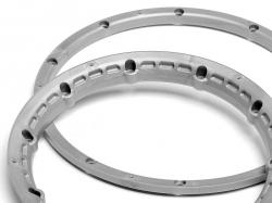 Poistný krúžok kolesa, strieborný 2 ks
