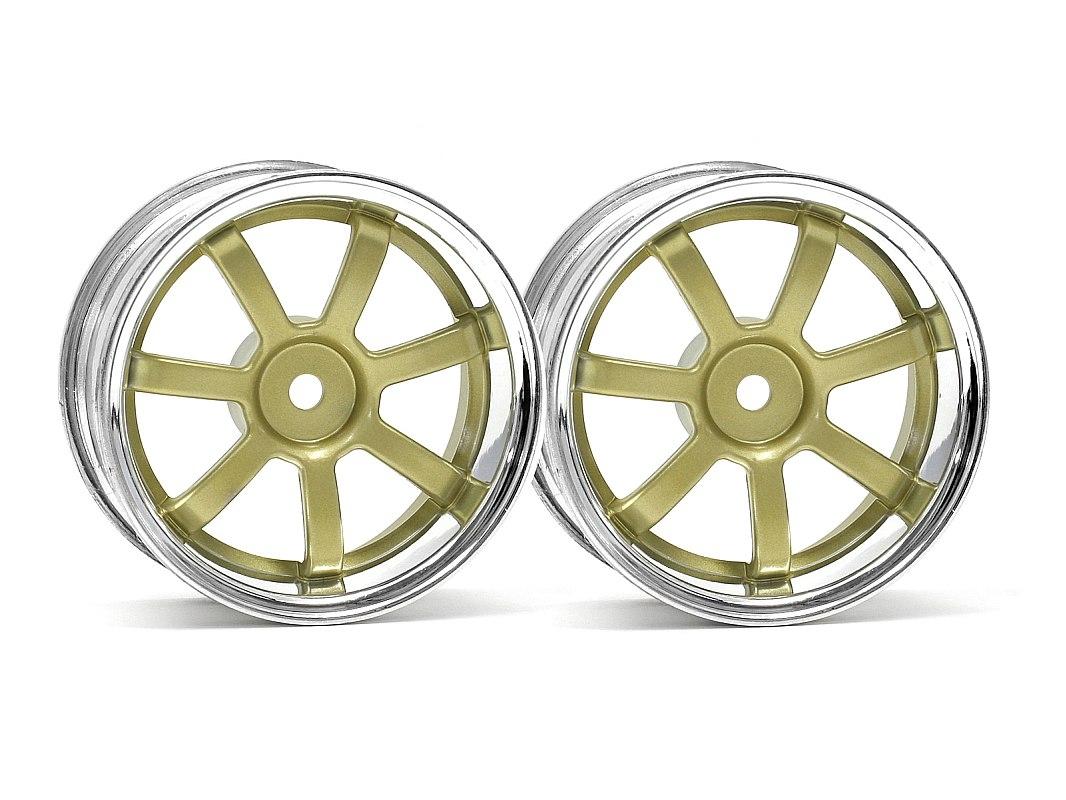 Náhľad produktu - Disk paprskový 26mm/3 chrom/zlatá