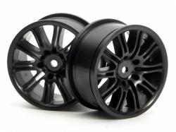Wheels black 26 mm - beam (pair)