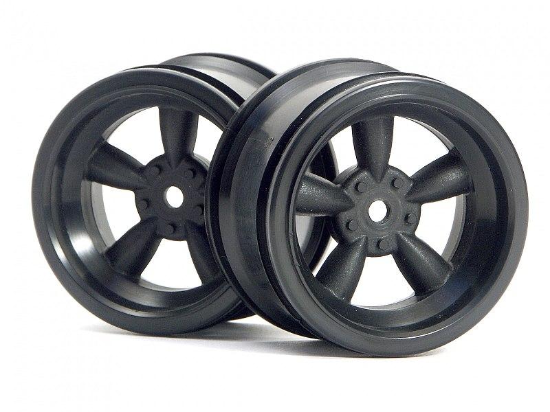 Náhľad produktu - VINTAGE 5 paprskové disky 31mm, černé (6mm OFFSET)