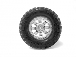 Nalepené Super Mudders gumy 155x85mm na chromových diskách, 2ks. pro Savage