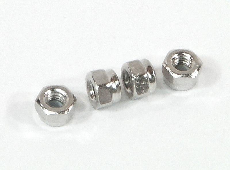 Náhľad produktu - Samojistící matice M2.6 (stříbrná/4ks)