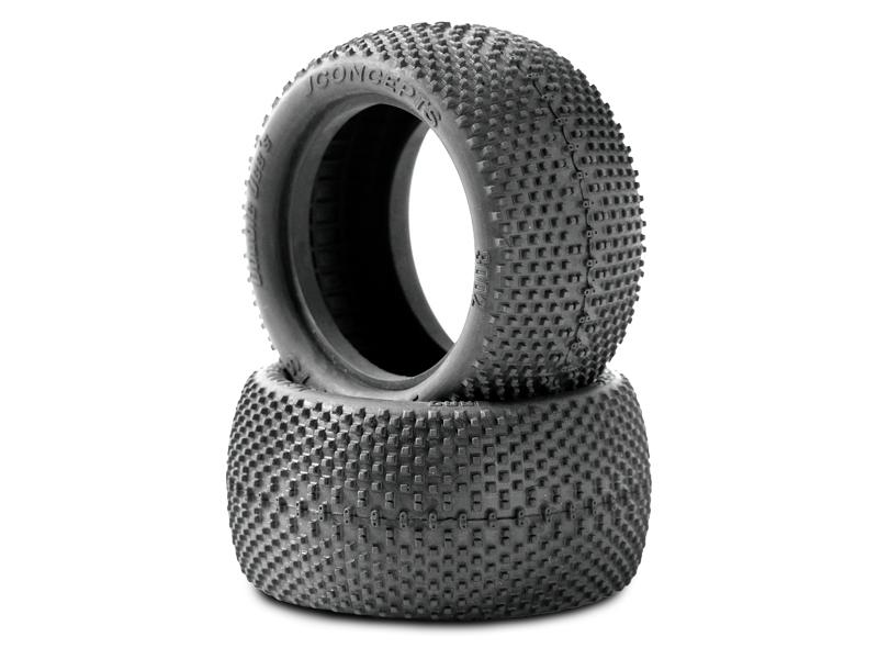 Double Dees - 4wd zadní gumy, černá směs (pro 2.2 4wd zadní disky)