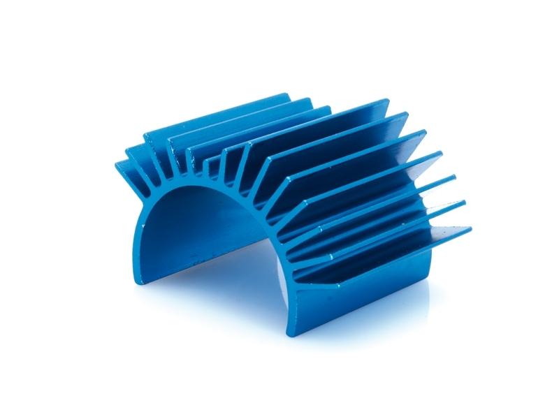 Náhľad produktu - Hliníkový motorový chladič, modrý - S10 BX/TX/MT (pre motory veľkosti 500-600)