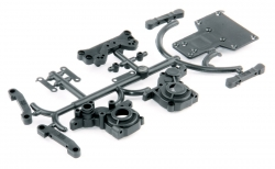 Rear house gearboxes and rear bracket arms - S10 Twister - 1/10 2WD Buggy