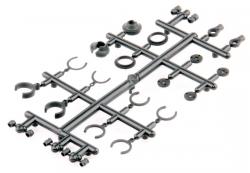 Vymezovací podložky olejových tlumičů - S10 Twister - 1/10 2WD Buggy