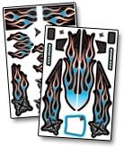 Náhľad produktu - XXX Main - Airbrush nálepka - Ignite 1/8 Buggy X-Wrapz (modrá)