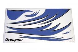 Sada polepů (modrá, pravá)- Husky 1800S