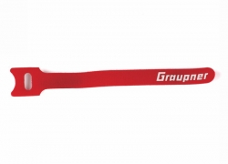 Stahovací pásek suchým zipem 150mm GRAUPNER , červený (10ks)