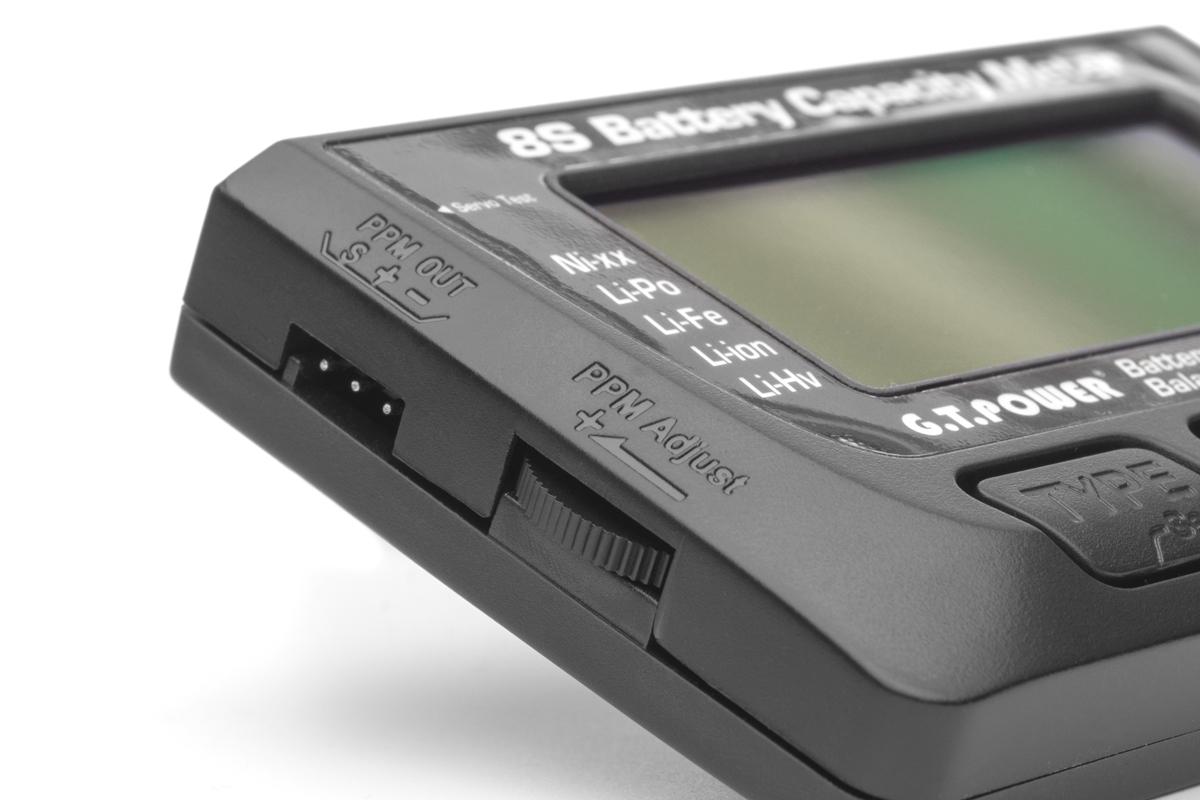 Tester LiPo akumulátorů 1-8S/servotester