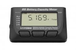 1–8S LiPo Battery Capacity Meter & Servo Tester
