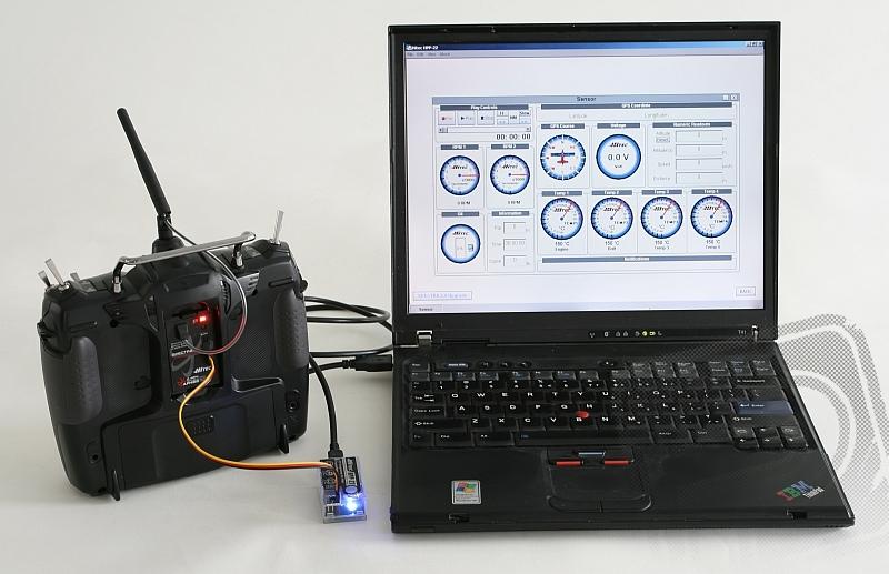 AURORA 9 9-kanálová 2.4GHz, Optima9, TX aku (mode 2)