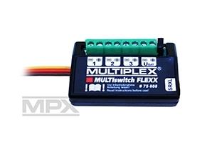 Náhľad produktu - 75888 Multiswitch FLEXX trojkanálový RC spínač