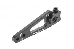 Servo páka 38mm 25z (čierna), pre servá H,S,F