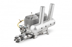 DLA 116cc (In-Line Twin Cylinder) Gas Engine with Muffler and Accessories
